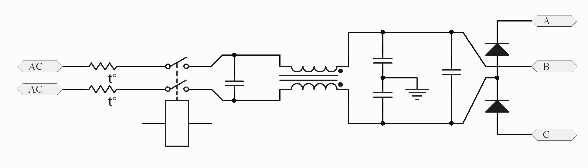 Figure J - EMI filter and voltage doubler